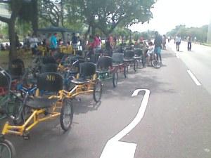 Triciclos para alugar no Aterro do Flamengo...