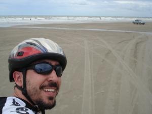 Chegando na praia de Atalaia, em Luis Correia: dali em diante, nada de asfalto;