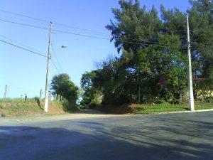 Local de saída da estradinha de Lagoa dos Mares. Estrada de volta para Confins
